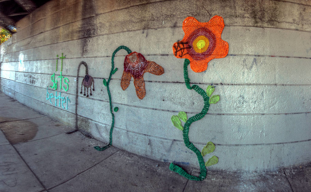 It Gets Better by Nicole Nikolich (aka Lace in the Moon) Beneath the Reading Viaduct 401 N 11th St Philadelphia, PA Copyright 2018, Bob Bruhin. All rights reserved.